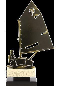 Trofeo barco de metal