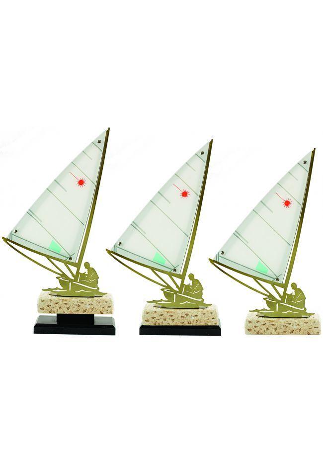 Trofeo metal barco